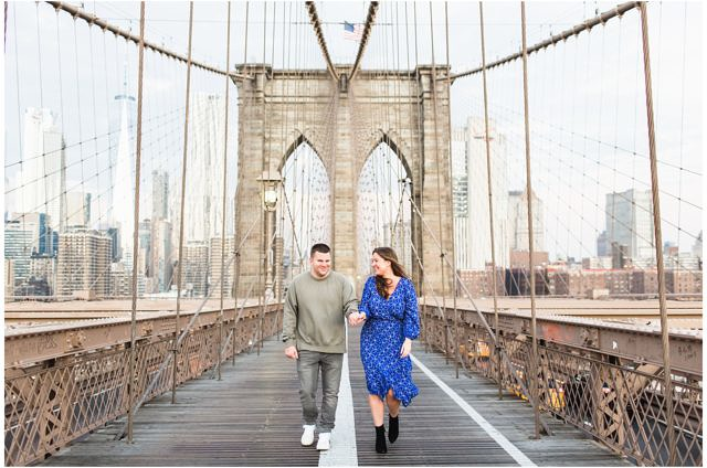 brooklyn bridge sunrise engagement photos